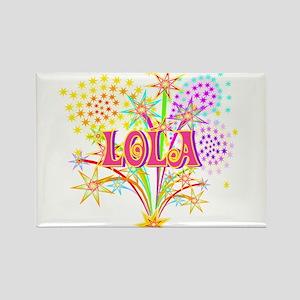 Sparkle Celebration Lola Rectangle Magnet