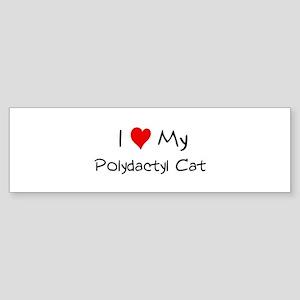 I Love Polydactyl Cat Bumper Sticker