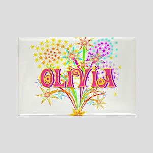Sparkle Celebration Olivia Rectangle Magnet