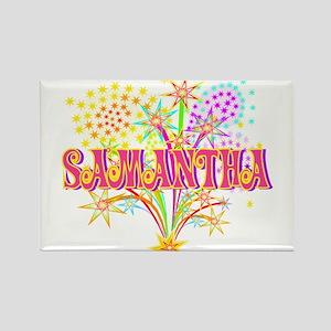 Sparkle Celebration Samantha Rectangle Magnet