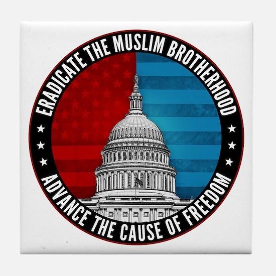 Eradicate The Muslim Brotherhood Tile Coaster