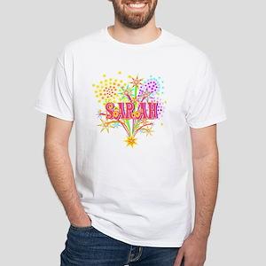 Sparkle Celebration Sarah White T-Shirt
