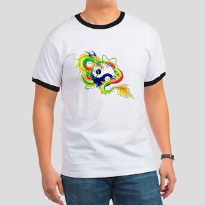 Yin and Yang Dragon Ringer T