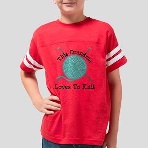 Grandma Loves Knitting Youth Football Shirt