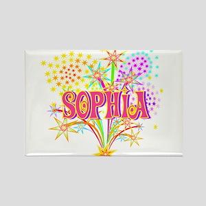 Sparkle Celebration Sophia Rectangle Magnet
