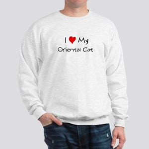 I Love Oriental Cat Sweatshirt