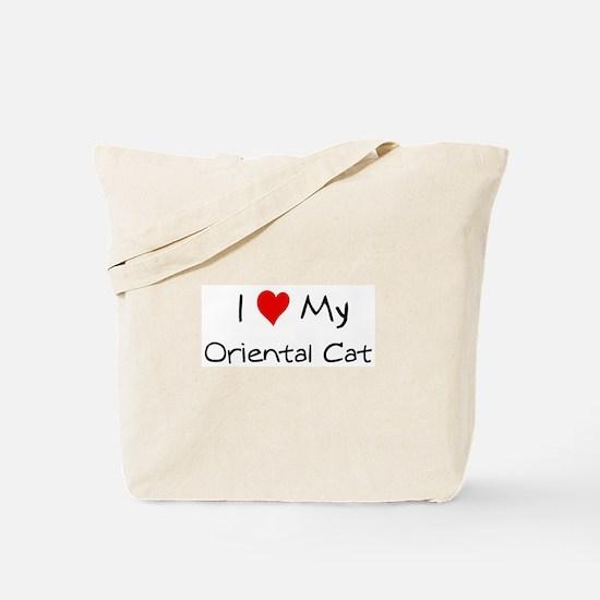 I Love Oriental Cat Tote Bag