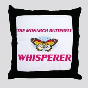 The Monarch Butterfly Whisperer Throw Pillow