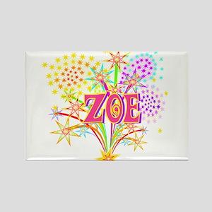 Sparkle Celebration Zoe Rectangle Magnet