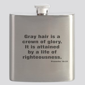 Gray Hair Proverb Flask