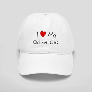 I Love Ocicat Cat Cap