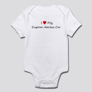 Love My Egyptian Hairless Cat Infant Bodysuit