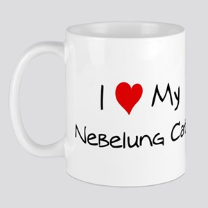 I Love Nebelung Cat Mug