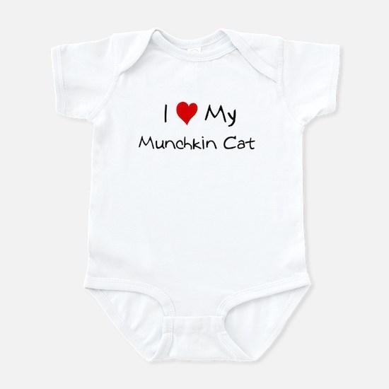I Love Munchkin Cat Infant Bodysuit