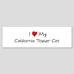 Love My California Toyger Cat Bumper Sticker