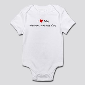 I Love Mexican Hairless Cat Infant Bodysuit