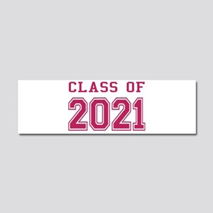 Class of 2021 (Pink) Car Magnet 10 x 3