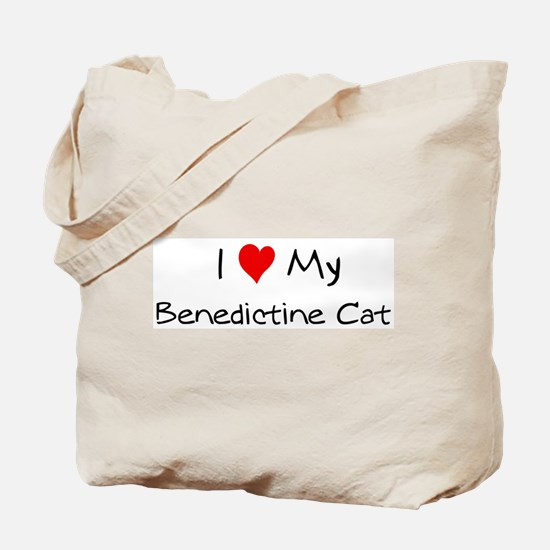 Love My Benedictine Cat Tote Bag