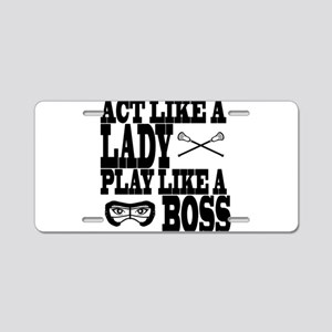 Lacrosse LadyBoss Aluminum License Plate