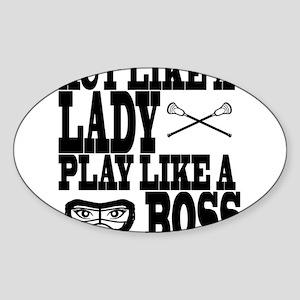Lacrosse LadyBoss Sticker