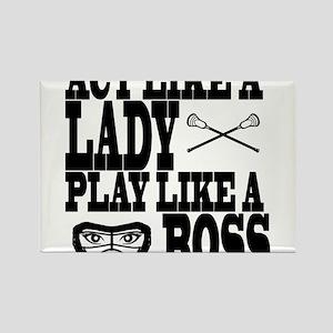 Lacrosse LadyBoss Rectangle Magnet