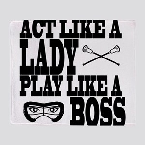 Lacrosse LadyBoss Throw Blanket