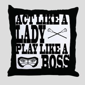 Lacrosse LadyBoss Throw Pillow