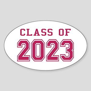 Class of 2023 (Pink) Sticker (Oval)