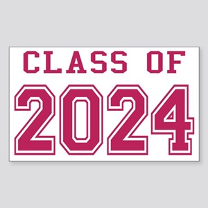 Class of 2024 (Pink) Sticker (Rectangle)