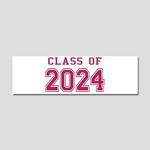 Class of 2024 (Pink) Car Magnet 10 x 3