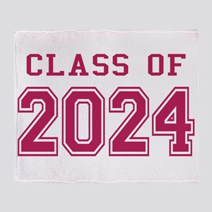 Class of 2024 (Pink) Throw Blanket