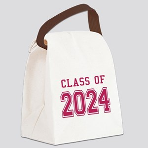 Class of 2024 (Pink) Canvas Lunch Bag