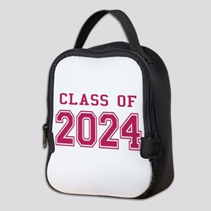 Class of 2024 (Pink) Neoprene Lunch Bag