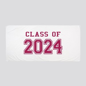 Class of 2024 (Pink) Beach Towel