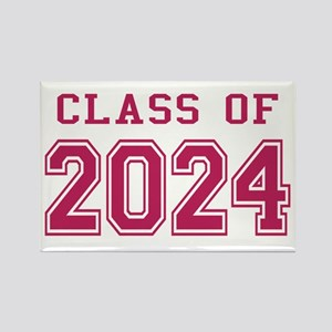 Class of 2024 (Pink) Rectangle Magnet