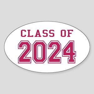 Class of 2024 (Pink) Sticker (Oval)
