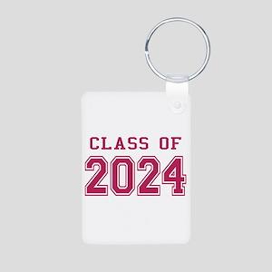 Class of 2024 (Pink) Aluminum Photo Keychain