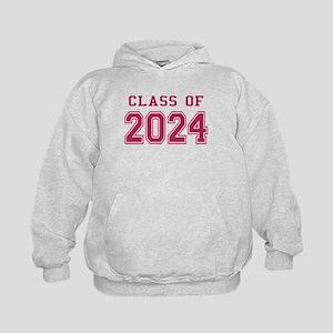 Class of 2024 (Pink) Kids Hoodie