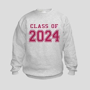 Class of 2024 (Pink) Kids Sweatshirt
