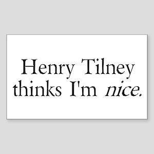 Henry Tilney Rectangle Sticker