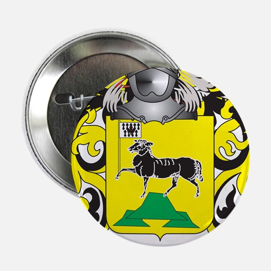 """Gros Coat of Arms (Family Crest) 2.25"""" Button"""