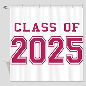 Class of 2025 (Pink) Shower Curtain