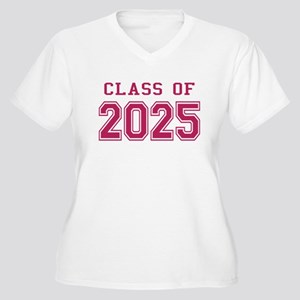 Class of 2025 (Pink) Women's Plus Size V-Neck T-Sh