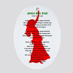 Jingle Bell RAQ! Oval Ornament