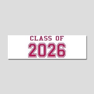Class of 2026 (Pink) Car Magnet 10 x 3