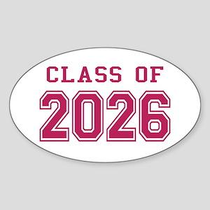 Class of 2026 (Pink) Sticker (Oval)