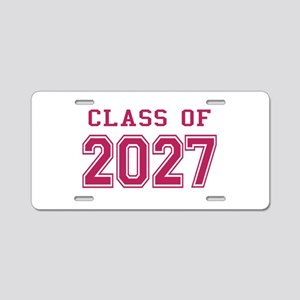 Class of 2027 (Pink) Aluminum License Plate