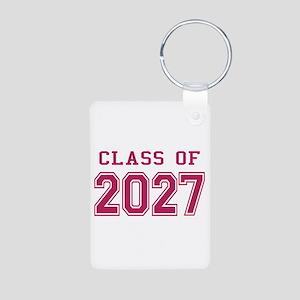 Class of 2027 (Pink) Aluminum Photo Keychain