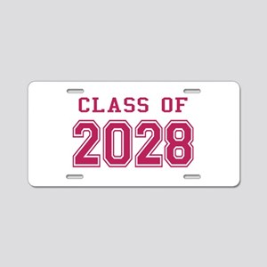 Class of 2028 (Pink) Aluminum License Plate