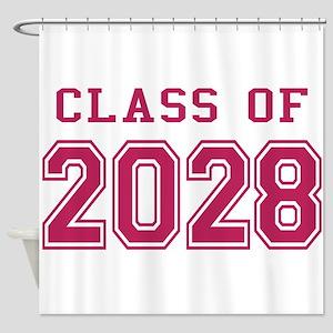 Class of 2028 (Pink) Shower Curtain